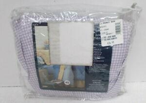 JC Penney BEDSKIRT - Double Full Bed - Soft Lilac & White GINGHAM - NIP