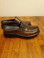 Dansko Burgundy Leather Mule Open Clogs Professional Shoe Size 40 US 9 EUC