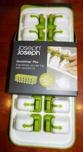 JOSEPH JOSEPH  QUICKSNAP ICE CUBE TRAY WITH LID GREEN 20018 NEW