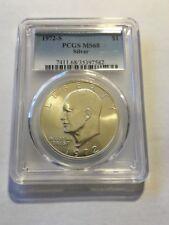 1972 S $1 Silver Eisenhower Dollar PCGS MS68