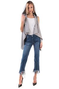 RRP €840 FABIANA FILIPPI Cashmere Silk & Wool Cardigan Size M Sleeveless Hooded