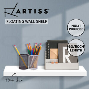 Artiss Wall Shelf Floating Bookshelf Set DIY Storage Display Rack 60/80cm White