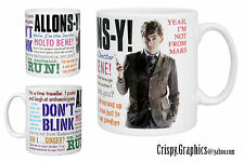 DR WHO MUG - DAVID TENNANT - 10th Doctor Quotes Mug