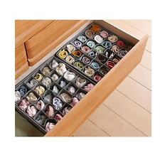 JJPRIME 30 Slots Storage Box Wardrobe Organiser Drawer Socks Ties Underware NEW