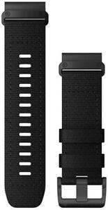 Garmin QuickFit 26 Watch Bands - Heathered Black Nylon 010-12864-07