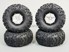 "RC 1/10 Truck Wheels 2.2 ROCK CRAWLER Aluminum BEADLOCK Rims W/ 5.5"" TIRES"