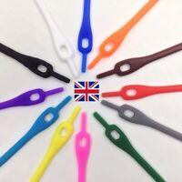 No Tie 10Pcs Elastic Shoe Laces Silicone,Trainers Adult,Kids,Shoelaces,Unisex-UK
