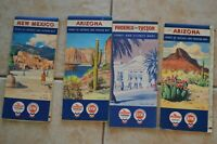 1950's-60's Chevron Road Maps Arizona New Mexico Tucson Phoenix Vintage