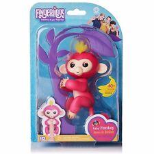 NEW - Fingerling Baby Monkey Bella Pink & Yellow w/ Bonus Stand - FREE SHIPPING!