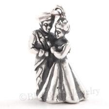BRIDE GROOM charm 925 Sterling Silver Wedding Couple Love Pendant Charm .925