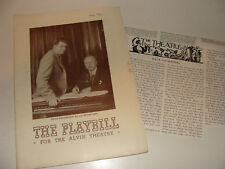1939 NY Playbill Very Warm For May Jerome Kern Oscar Hammerstein II + Review