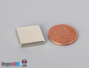 "15.8x15.8 x3.1mm  5/8""x5/8"" x1/8"" N40 Rare Earth Neodymium Block Square Magnets"