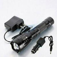10000LM 5Modes 18650 LED Rechargeable Focus Zoom Flashlight Torch Lamp w/Charger