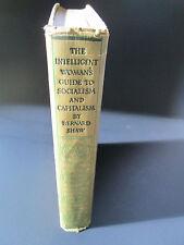 1st Printing 1928 G.Bernard Shaw Intelligent Woman'S Gd.To Socialism+ Capitalism