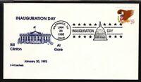1993 Clinton Gore inaugural - Carthage TN cancel  3-B cachet