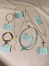 6 Piece Catholic Cross/Angel Jewelry Lot
