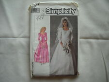 Wedding/Bridesmaid Dress Pattern, Simplicity #7937, 12, 1987