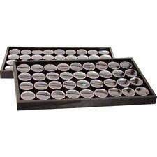 Black 72 Gem Jars Foam Insert & Travel Display Tray