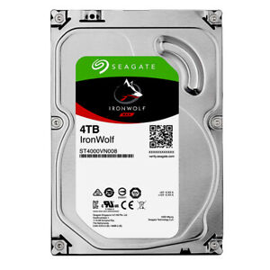 """Seagate 4TB IronWolf NAS HDD 3.5"""" SATA III 6GBs 5900RPM 64MB Cache ST4000VN008"""