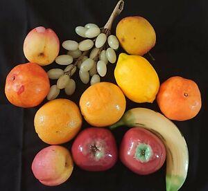 Decorative Fruit. Onyx, Ceramic  and Plastic