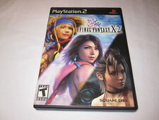 Final Fantasy X-2 (Playstation PS2) Black Label Game Complete LN Perfect Mint!