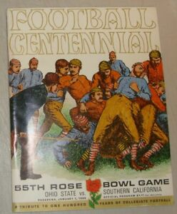 1969 Football Centennial Ohio State vs USC Vintage Rose Bowl Sports Program