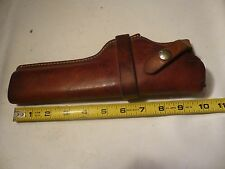 """Antique Lawrence Leather Holster Semi Auto w/ 4"""" barrel  ~Reels Rods N Rust ®~"""