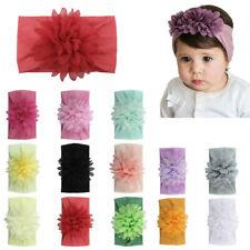 Newborn Toddler Girl Vintage Baby Headband Elastic Hair Bow Headdress Headwear