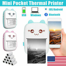 Mini Thermal Printer Pocket Photo Printer Wireless Bluetooth Printing Device