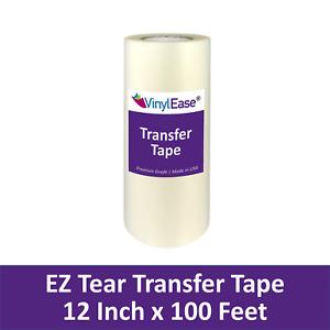 12 in X 100 ft Roll Clear EZ TEAR Transfer Tape for Sign Craft Vinyl V0825