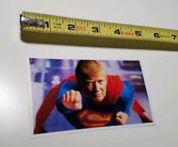 Funny Donald Trump Political Sticker Depicted As Superman MARVEL DC COMICS