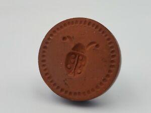 "Vintage RYCRAFT 2"" Round Cookie Stamp Ladybug Blue"