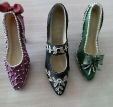 Lot Of 3 Miniature Resin Collectable Shoes