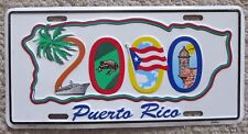 Puerto Rico 2000 SOUVENIR BOOSTER License Plate
