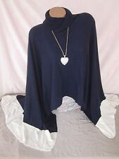 White House Black Market Poncho Sweater Long Coverup Wrap Size M NEW