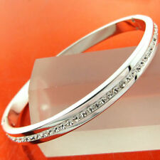 Mixed Metals White Gold Filled Fashion Bangles