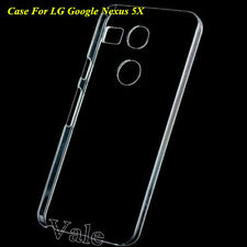 Clear Crystal Glossy Transparent Hard PC Case Cover For LG Google Nexus 5X 2015