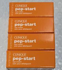 Lot 4 Clinique Pep-Start Eye Cream Travel Size 0.1oz Each Brand New In Box