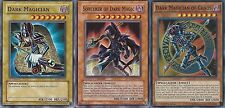 Sorcerer of Dark Magic + Dark Magician Of Chaos + Dark Magician - NM - Yugioh