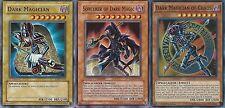 Sorcerer of Dark Magic + Dark Magician Of Chaos + Magician - Near Mint - Yugioh
