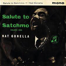 "NAT GONELLA salute to satchmo volume 1 ep SEG 8018 uk columbia 7"" PS VG/VG"