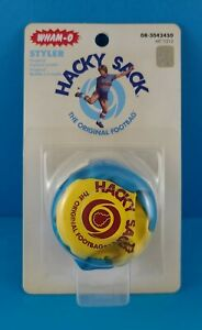 WHAM-O HACKY SACK STYLER ORIGINAL BLUE AND YELLOW