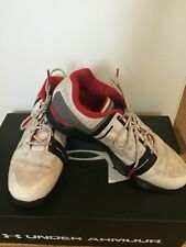 Under Armour Jordan Speith White, Red, Black Kids Golf Shoes Size 4Y