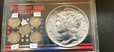 SSCA SILVER MERCURY DIME Collection US MINTED COIN SET OF 5 Plastic Vault RARE