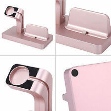 Charging Dock Stand Station Charger Holder For Apple Watch iWatch iPhone X 8/7/6