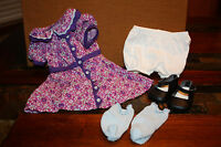 American Girl Doll Ruthie's Meet Outfit Dress for Ruthie EUC
