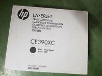 Genuine OEM HP LaserJet CE390XC Black Print Toner Cartridge New SEALED