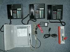 Nortel Phone System With 3 Phones and Power Supply NT5B05DQ-93 - As Pictured