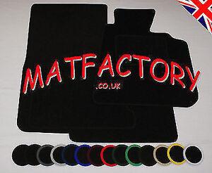 MERCEDES E CLASS W123 Sal/Est 75-85 black tailored car mats M16 COLOURED BINDING