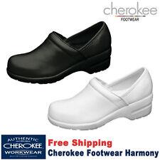 Cherokee Women's New Harmony Workwear Step-in Padded Collar Nursing Leather Shoe